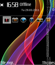 Metal Rainbow 01 es el tema de pantalla