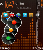 Colore music theme screenshot