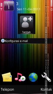 Rainbow [N8 Icon] es el tema de pantalla