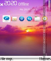 Sunsetfull es el tema de pantalla