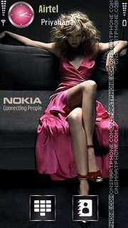 Nokia Girl 02 theme screenshot