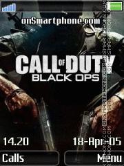 Black ops 240x320 es el tema de pantalla