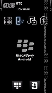Blackberry Android theme screenshot