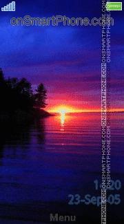 Sunset 20 es el tema de pantalla