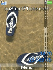 Facebook Sandal es el tema de pantalla