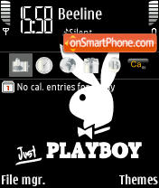 Playboy Black theme screenshot