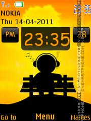 Music Mania Clock theme screenshot