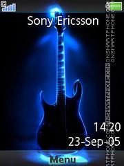 Neon Guitar 03 es el tema de pantalla