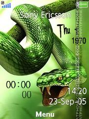 Snake Clock es el tema de pantalla