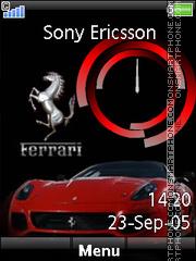 Ferrari Clock 02 es el tema de pantalla