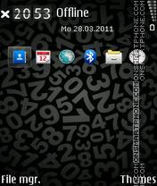 Numbers black es el tema de pantalla