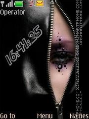 Black eye swf theme screenshot