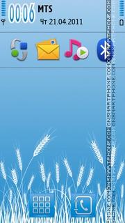Blue theme for smartphones theme screenshot