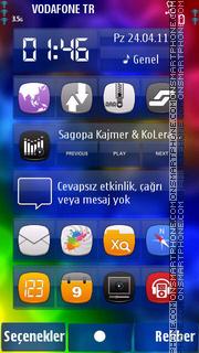 Colourful tema screenshot