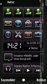 Black mozaic tema screenshot