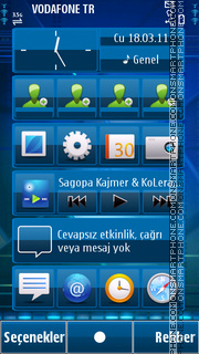 Blue theme screenshot