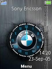 BMW Logo Clock es el tema de pantalla