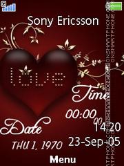 Heart Digital Clock es el tema de pantalla