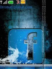 Water Facebook es el tema de pantalla