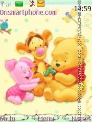 Cute Pooh 02 theme screenshot