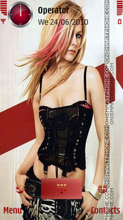 Avril hot theme screenshot