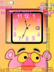 Pink Panther Clock 01 theme screenshot