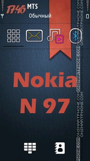 Nokia N97 Keypad theme screenshot