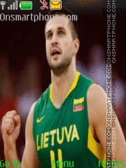 Lithuania Basketball es el tema de pantalla