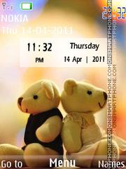 Teddy Love Clock theme screenshot