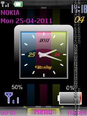 Analog Colors Clock Battery theme screenshot