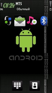 Iphone Android theme screenshot