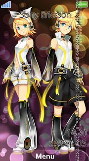 Rin & Len Kagamine es el tema de pantalla