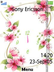 Flower Clock 07 es el tema de pantalla