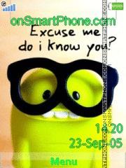Excuse Me 01 es el tema de pantalla