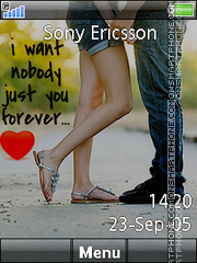 Just You Forever es el tema de pantalla