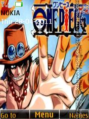One Piece - Ace theme screenshot