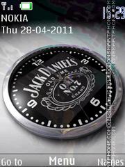 Jack Daniels Clock theme screenshot