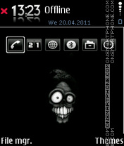 Black skull 02 theme screenshot