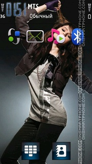 Selena Gomez 07 theme screenshot