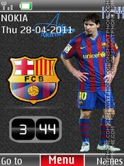 Messi Clock 01 es el tema de pantalla
