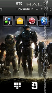 Halo Reach 01 theme screenshot