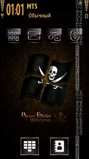 Pirate Windows theme screenshot