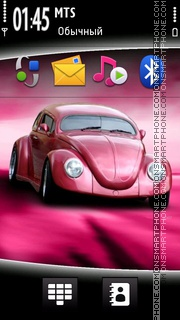 Pink Car 01 theme screenshot