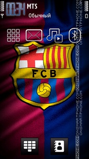 Fc Barcelona 18 theme screenshot