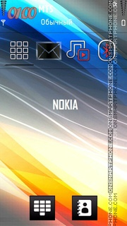 Nokia Fusion Slide theme screenshot