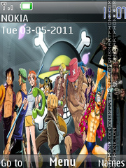 One Piece theme screenshot
