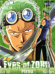 One Piece Zoro theme screenshot