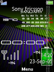 Battery Calendar es el tema de pantalla