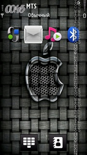Iphone 4 Android theme screenshot
