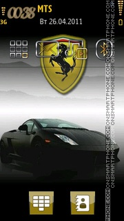 Full Ferrari theme screenshot